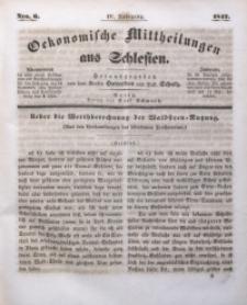 Oekonomische Mittheilungen aus Schlesien, 1842, Jg. 4, No. 6