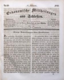 Oekonomische Mittheilungen aus Schlesien, 1842, Jg. 4, No. 10