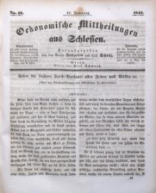 Oekonomische Mittheilungen aus Schlesien, 1842, Jg. 4, No. 12