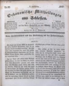 Oekonomische Mittheilungen aus Schlesien, 1843, Jg. 5, No. 22