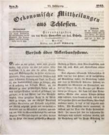 Oekonomische Mittheilungen aus Schlesien, 1844, Jg. 6, Nro. 2