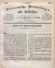 Oekonomische Mittheilungen aus Schlesien, 1844, Jg. 6, Nro. 9