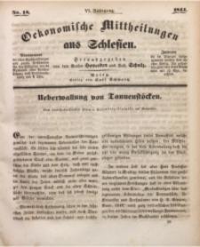 Oekonomische Mittheilungen aus Schlesien, 1844, Jg. 6, Nro. 18