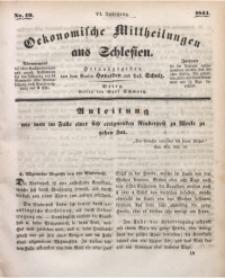 Oekonomische Mittheilungen aus Schlesien, 1844, Jg. 6, Nro. 19
