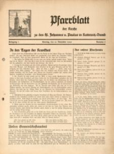 Pfarrblatt der Kirche zu den Hl. Johannes u[nd] Paulus in Kattowitz-Domb, 1940, Jg. 1, Nr. 5
