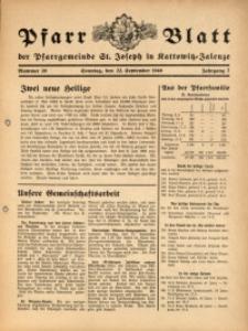 Pfarrblatt der Pfarrgemeinde St. Joseph in Kattowitz-Zalenze, 1940, Jg. 7, Nr. 38