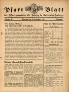 Pfarrblatt der Pfarrgemeinde St. Joseph in Kattowitz-Zalenze, 1940, Jg. 7, Nr. 39