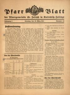 Pfarrblatt der Pfarrgemeinde St. Joseph in Kattowitz-Zalenze, 1941, Jg. 8, Nr. 13