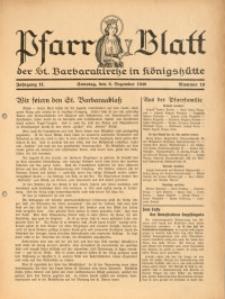Pfarrblatt der St. Barbarakirche in Königshütte, 1940, Jg. 9, Nr. 10