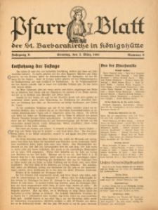 Pfarrblatt der St. Barbarakirche in Königshütte, 1941, Jg. 10, Nr. 9