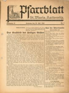 Pfarrblatt St Maria Kattowitz, 1940, Jg. 10, Nr. 7