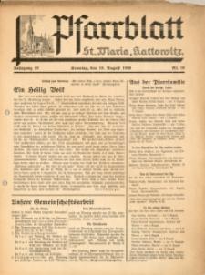 Pfarrblatt St Maria Kattowitz, 1940, Jg. 10, Nr. 10