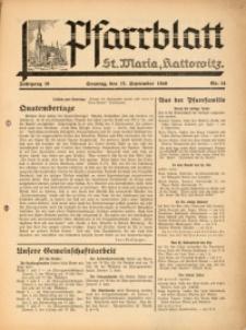 Pfarrblatt St Maria Kattowitz, 1940, Jg. 10, Nr. 14
