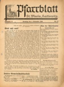 Pfarrblatt St Maria Kattowitz, 1940, Jg. 10, Nr. 21