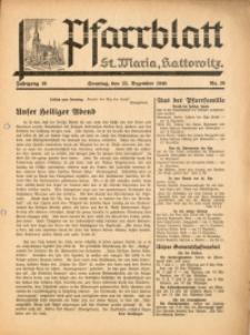Pfarrblatt St Maria Kattowitz, 1940, Jg. 10, Nr. 28