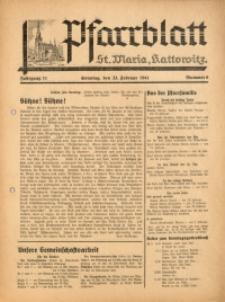 Pfarrblatt St. Maria Kattowitz, 1941, Jg. 11, Nr. 8