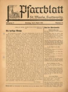 Pfarrblatt St. Maria Kattowitz, 1941, Jg. 11, Nr. 14