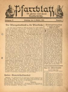 Pfarrblatt St. Peter und Paul Kattowitz, 1940, Jg. 10, Nr. 4