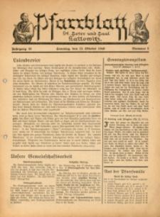 Pfarrblatt St. Peter und Paul Kattowitz, 1940, Jg. 10, Nr. 5