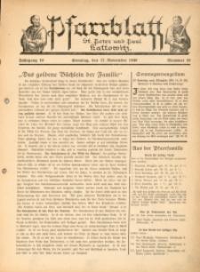 Pfarrblatt St. Peter und Paul Kattowitz, 1940, Jg. 10, Nr. 10