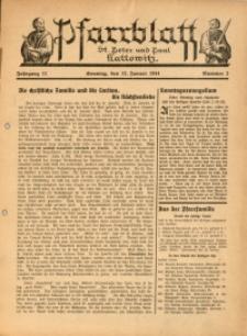Pfarrblatt St. Peter und Paul Kattowitz, 1941, Jg. 11, Nr. 2