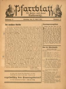 Pfarrblatt St. Peter und Paul Kattowitz, 1941, Jg. 11, Nr. 17