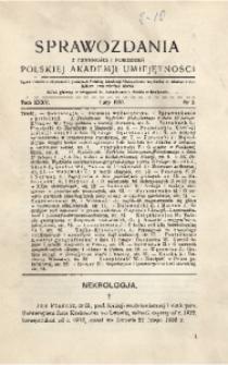 Sprawozdania z Czynności i Posiedzeń Polskiej Akademii Umiejętności, 1930, T. 35, Nr 2