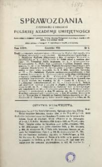 Sprawozdania z Czynności i Posiedzeń Polskiej Akademii Umiejętności, 1930, T. 35, Nr 6