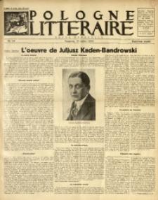 Pologne Littéraire, 1933, A. 8, Nr. 82