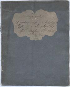 Tagebuch der Ausgaben im freyherrlich von Cselestischen Stiften vom 1-ten November 1812 bis daher 1813