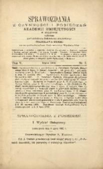 Sprawozdania z Czynności i Posiedzeń Akademii Umiejętności w Krakowie, 1900, T. 5, Nr 7