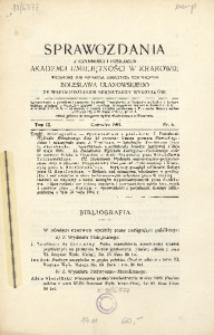 Sprawozdania z Czynności i Posiedzeń Akademii Umiejętności w Krakowie, 1904, T. 9, Nr 6