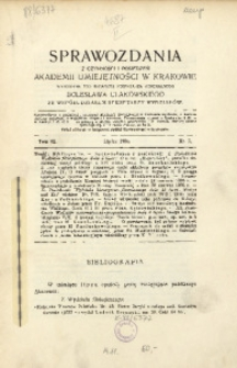 Sprawozdania z Czynności i Posiedzeń Akademii Umiejętności w Krakowie, 1904, T. 9, Nr 7