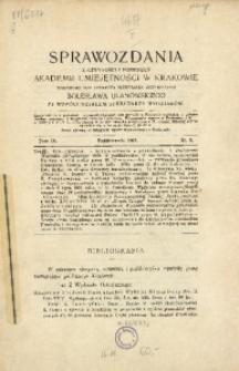Sprawozdania z Czynności i Posiedzeń Akademii Umiejętności w Krakowie, 1904, T. 9, Nr 8