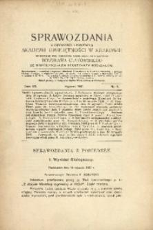 Sprawozdania z Czynności i Posiedzeń Akademii Umiejętności w Krakowie, 1907, T. 12, Nr 1