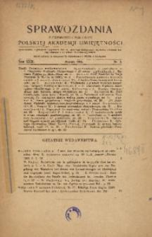 Sprawozdania z Czynności i Posiedzeń Polskiej Akademii Umiejętności, 1924, T. 29, Nr 3