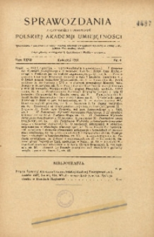 Sprawozdania z Czynności i Posiedzeń Polskiej Akademii Umiejętności, 1927, T. 32, Nr 4