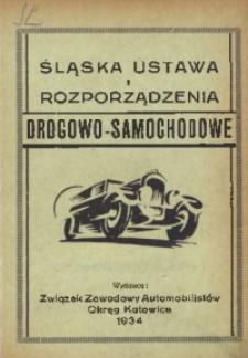 Śląska ustawa i rozporządzenia drogowo samochodowe