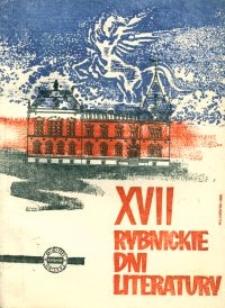 XVII Rybnickie Dni Literatury