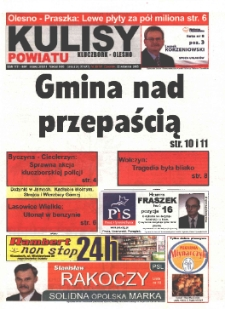 Kulisy Powiatu Kluczbork - Olesno 2005, nr 38 (101).