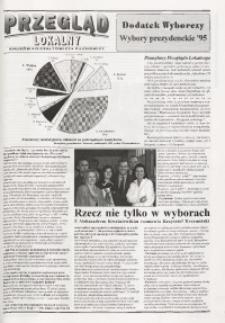 Przegląd Lokalny. Dodatek wyborczy. Wybory prezydenckie '95