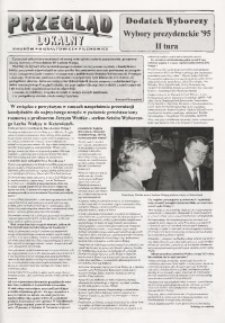 Przegląd Lokalny. Dodatek wyborczy. Wybory prezydenckie '95, II tura