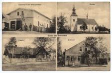 Gruss aus Kottenlust. Emanuel Boek's Geschäftshaus. Kirche. Schule. Gasthaus
