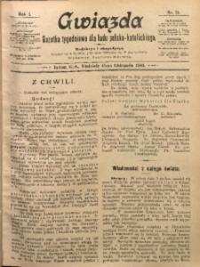 Gwiazda. Gazetka Tygodniowa dla Ludu Polsko-Katolickiego, 1903, R. 1, Nr. 21