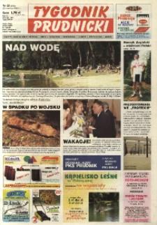 Tygodnik Prudnicki : gazeta lokalna gmin : Prudnik, Biała, Głogówek, Korfantów, Lubrza, Strzeleczki, Walce. R. 14, nr 26 (656).