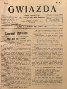 Gwiazda. Pismo Tygodniowe dla Ludu Polsko-Katolickiego, 1904, R. 2, Nr. 23