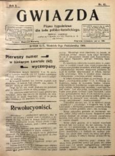 Gwiazda. Pismo Tygodniowe dla Ludu Polsko-Katolickiego, 1904, R. 2, Nr. 41