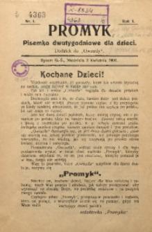 Promyk, 1904, R. 1, Nr. 1