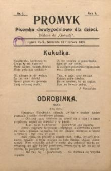 Promyk, 1904, R. 1, Nr. 6