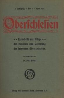 Oberschlesien, 1904, Jg. 3, H. 1
